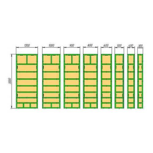 Щитовая опалубка (3*0,6 / 3*0,8 / 3*0,9 / 3*1,0 / 3*1,1 / 3*1,2 / 3,*1,5)